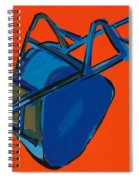 Blue Wheelbarrow Spiral Notebook