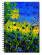 Blue Wild Flowers Spiral Notebook