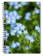 Blue Wildflowers Forget Me Nots Spiral Notebook