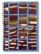Blue Window 2 Spiral Notebook