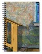 Blue Window Sill Spiral Notebook