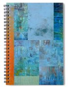 Blue With Orange 2.0 Spiral Notebook