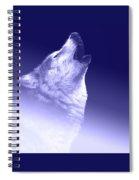 Blue Wolf    -007 Spiral Notebook
