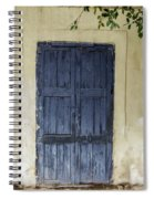 Blue Wood Door Spiral Notebook