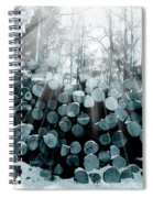 Blue  Wood Spiral Notebook
