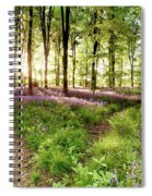 Bluebell Woods With Birds Flocking  Spiral Notebook