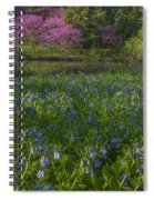 Bluebells And Redbuds Spiral Notebook