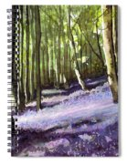 Bluebells At Grimescar Wood Spiral Notebook