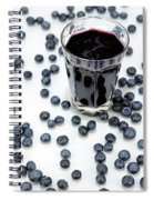 Blueberries And Blueberry Juice Spiral Notebook