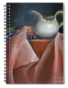 Blueberries And Cream Spiral Notebook