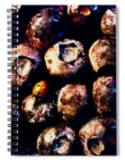 Blueberries And Ladybug Spiral Notebook