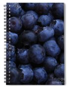 Blueberries Close-up - Vertical Spiral Notebook