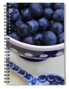 Blueberries With Spoon Spiral Notebook