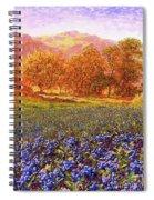 Blueberry Fields Season Of Blueberries Spiral Notebook