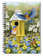 Bluebird Garden Home Spiral Notebook