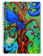 Bluebird In Tree Spiral Notebook