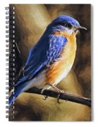 Bluebird Portrait Spiral Notebook