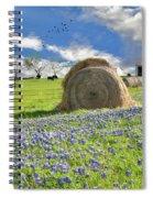 Bluebonnet Bales Spiral Notebook