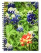 Bluebonnet Bouquet Spiral Notebook