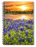 Bluebonnet Sunset  Spiral Notebook