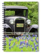 Bluebonnets And Fords Spiral Notebook