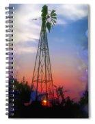 Bluebonnets And Windmill Spiral Notebook