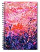 Bluegrass Sunrise - Rose A-left Spiral Notebook