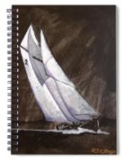 Bluenose At Night Coming Spiral Notebook