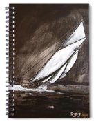 Bluenose At Night Going Spiral Notebook