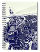 Blueprint Radial Spiral Notebook