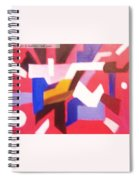 Blues On Rouge   Spiral Notebook
