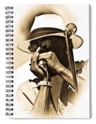 Blues Player Spiral Notebook