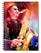 Blues Saxophonist Spiral Notebook