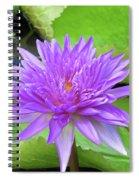 Blumen Des Wassers - Flowers Of The Water 17 Spiral Notebook