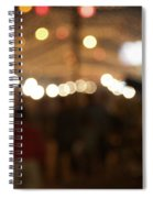 Blurred Delhi Street Scene At Night Spiral Notebook