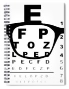 Blurry Eye Test Chart Spiral Notebook