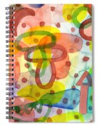 Blurry Mushroom And Other Things Spiral Notebook