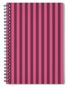 Blush Pink Striped Pattern Design Spiral Notebook