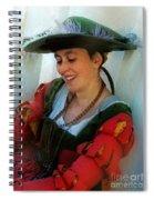 Blushing Bavarian Bridesmaid Spiral Notebook