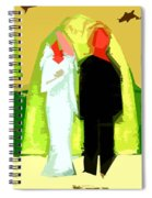 Blushing Bride And Groom 2 Spiral Notebook