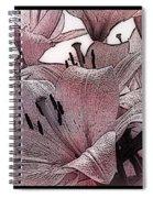 Blushing Lilies Spiral Notebook