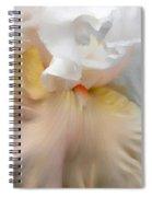 Blushing Peach Iris Flower Spiral Notebook