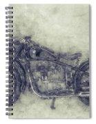 Bmw R32 - 1919 - Motorcycle Poster 1 - Automotive Art Spiral Notebook