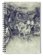 Bmw R60/2 - 1956 - Bmw Motorcycles 1 - Vintage Motorcycle Poster - Automotive Art Spiral Notebook
