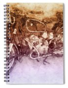 Bmw R60/2 - 1956 - Bmw Motorcycles 2 - Vintage Motorcycle Poster - Automotive Art Spiral Notebook
