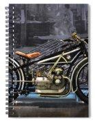 Bmw Vintage Motorcycle Spiral Notebook