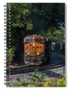 Bnsf Coming Around The Curve Spiral Notebook