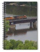 Bnsf Train 6686 A Spiral Notebook