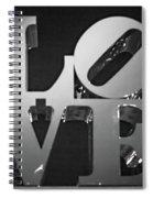 Bnw Philly Love 0218b Spiral Notebook