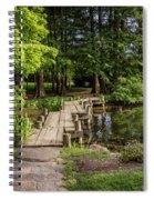 Boardwalk Bridge Maymont Japanese Garden Spiral Notebook